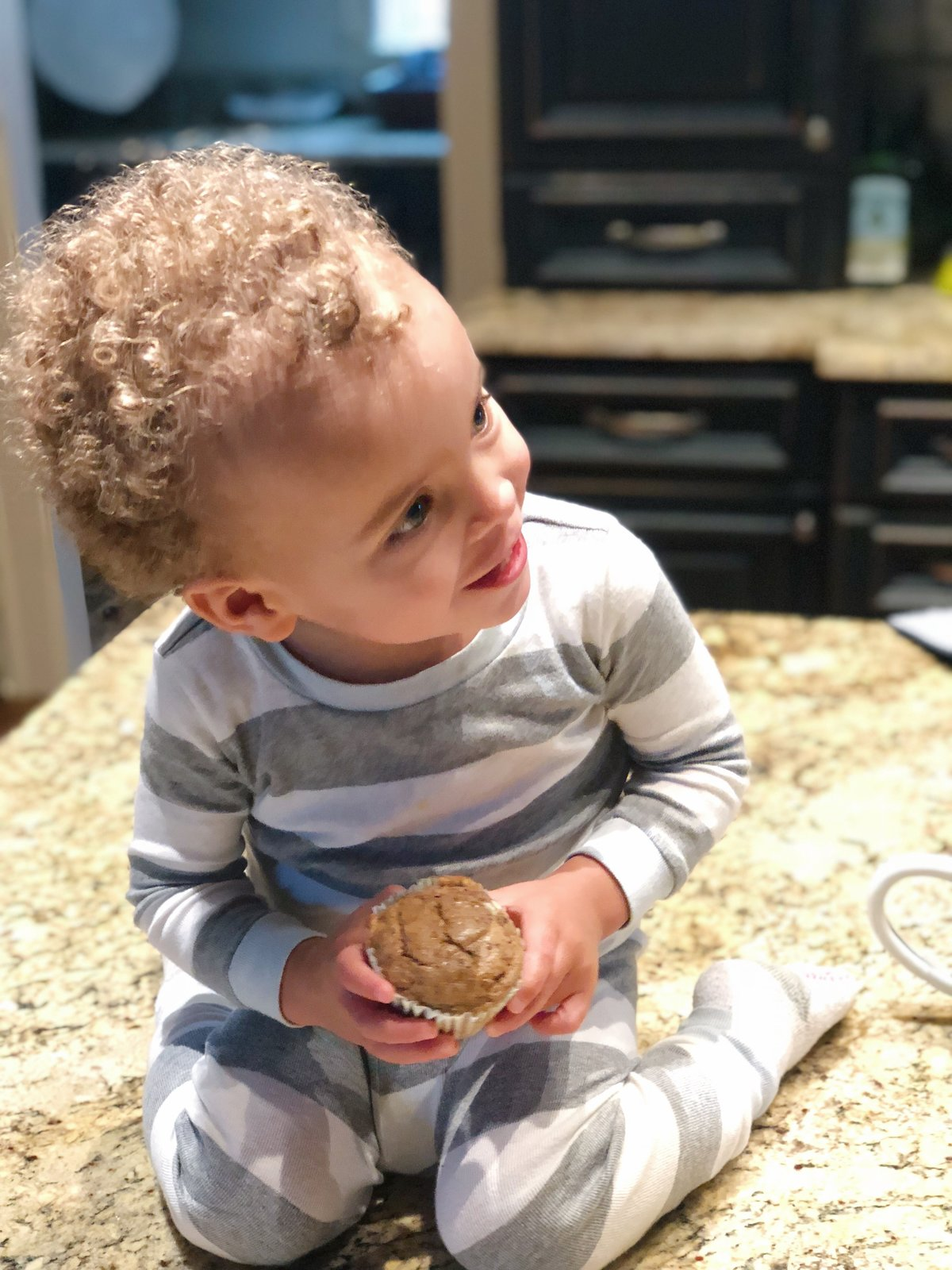 Toddler banana zucchini muffins