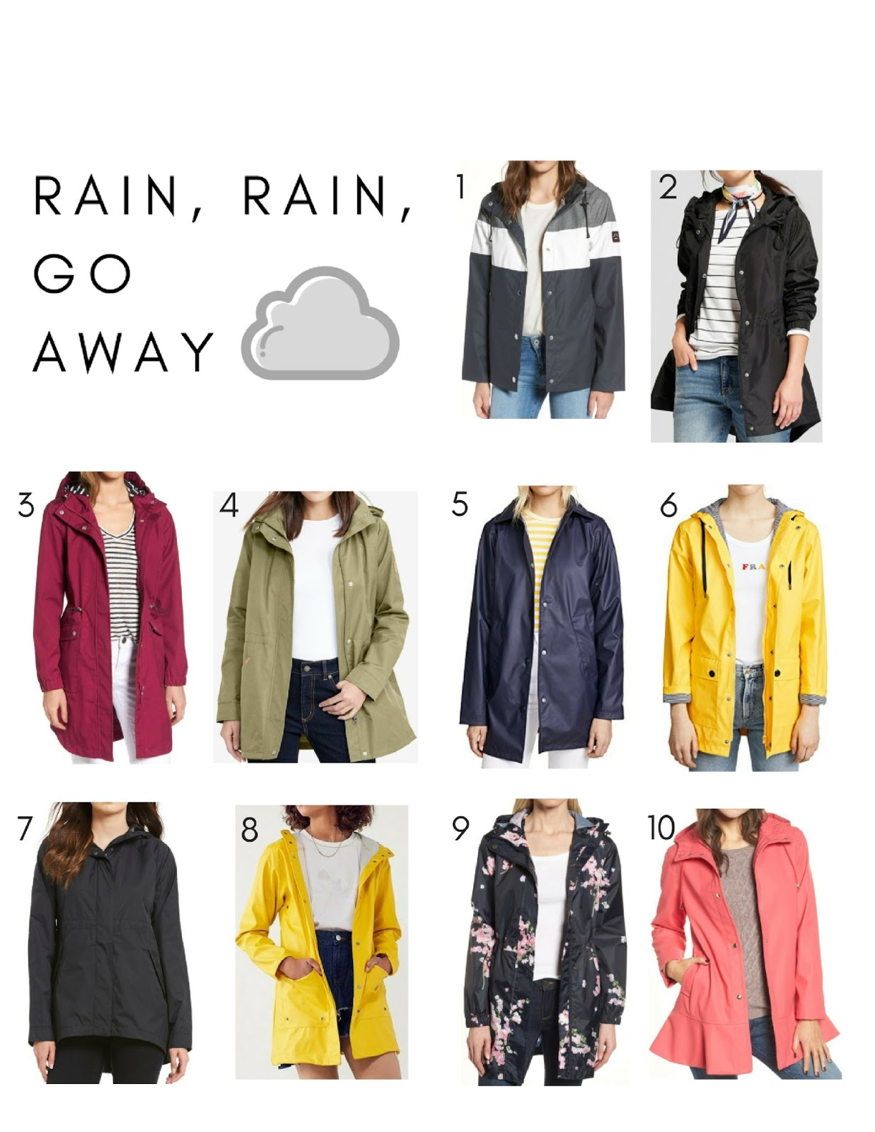 top 10 rain jackets for spring