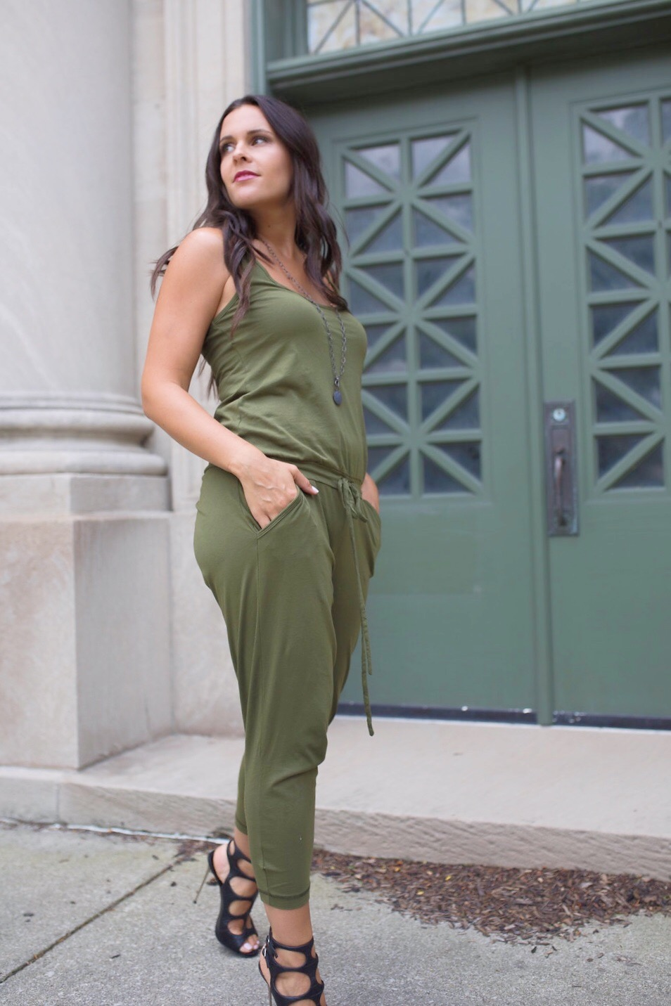 dressing up a casual jumpsuit
