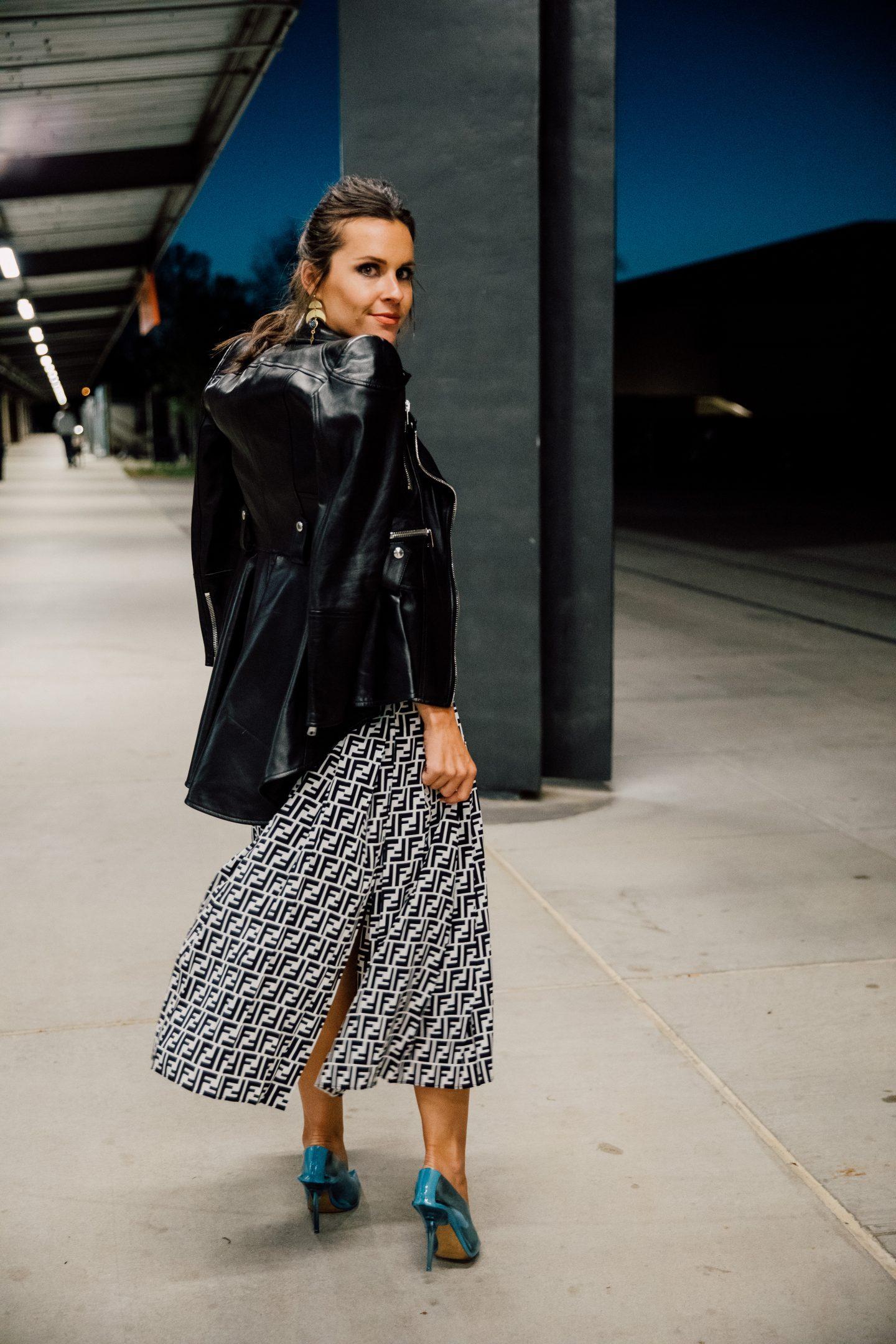 fendi pleated skirt