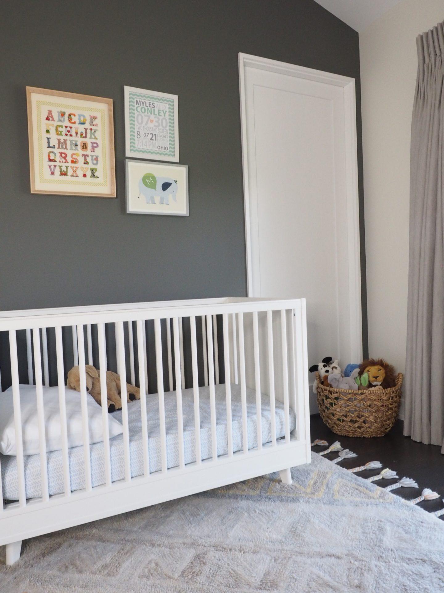 subtle orange neutral nursery