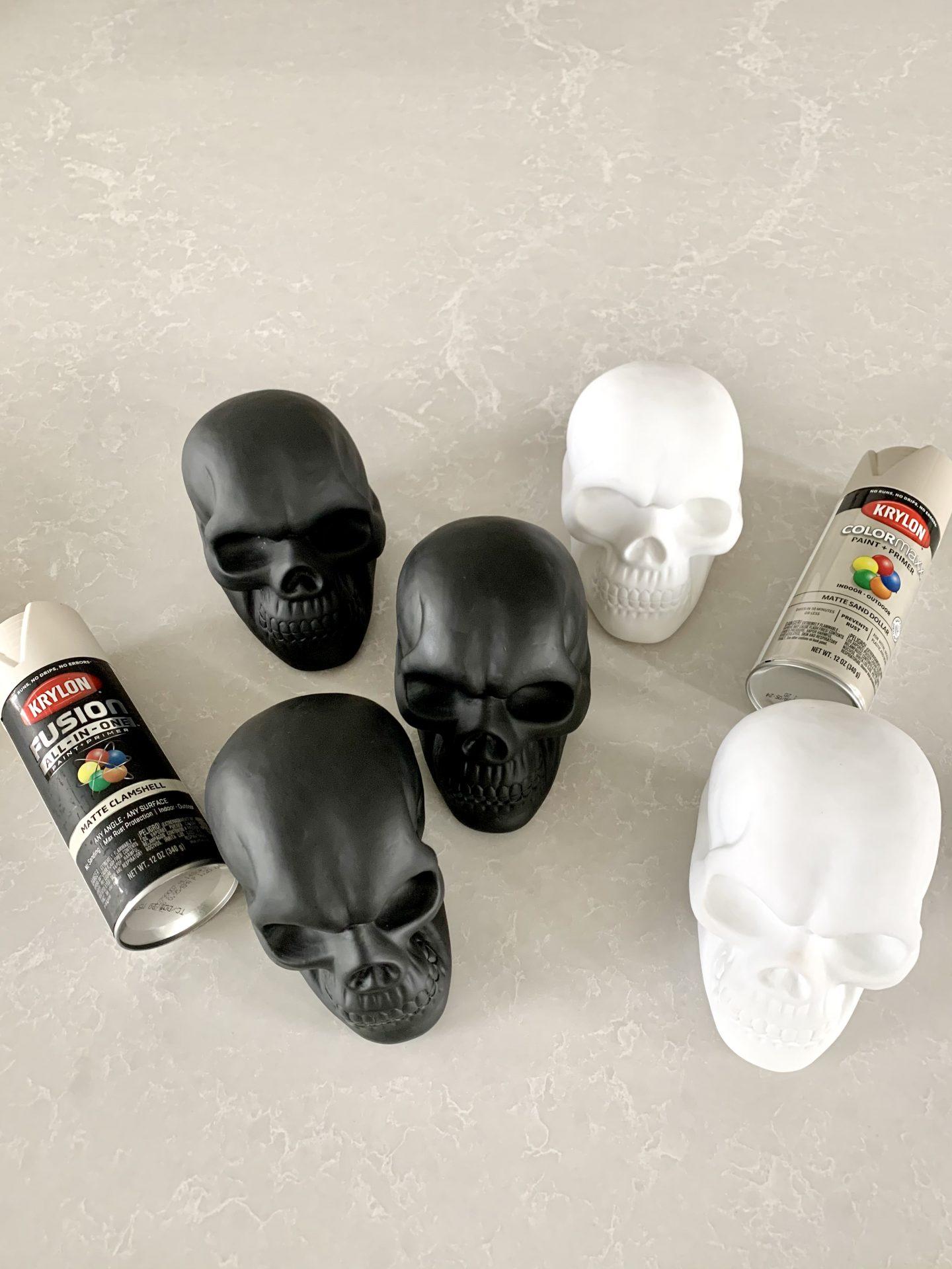 diy halloween skulls