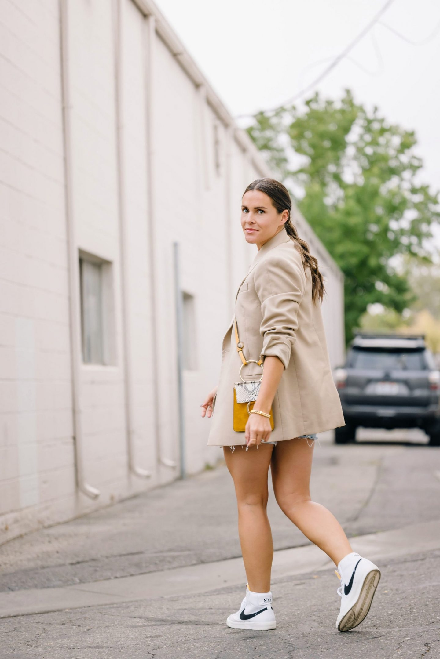 sport chic in shorts